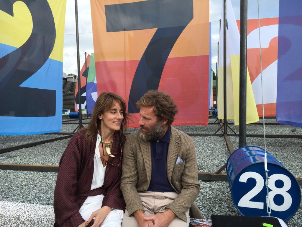 Isabel Calonge y Carlos Castillo en Pitti Uomo (Florencia), Junio 2016