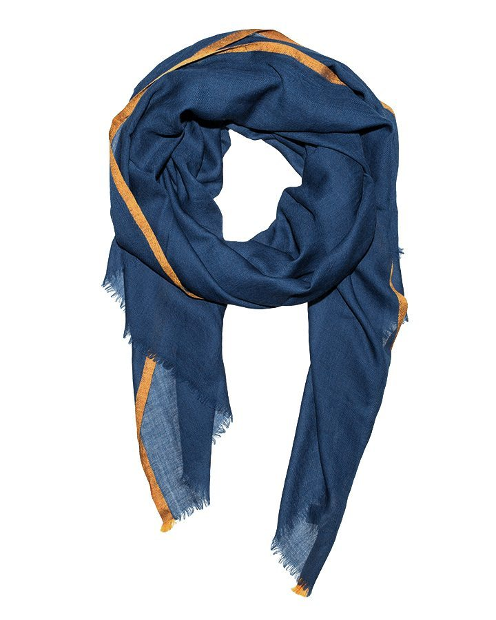 LOVAT&GREEN Royal Blue wool scarf
