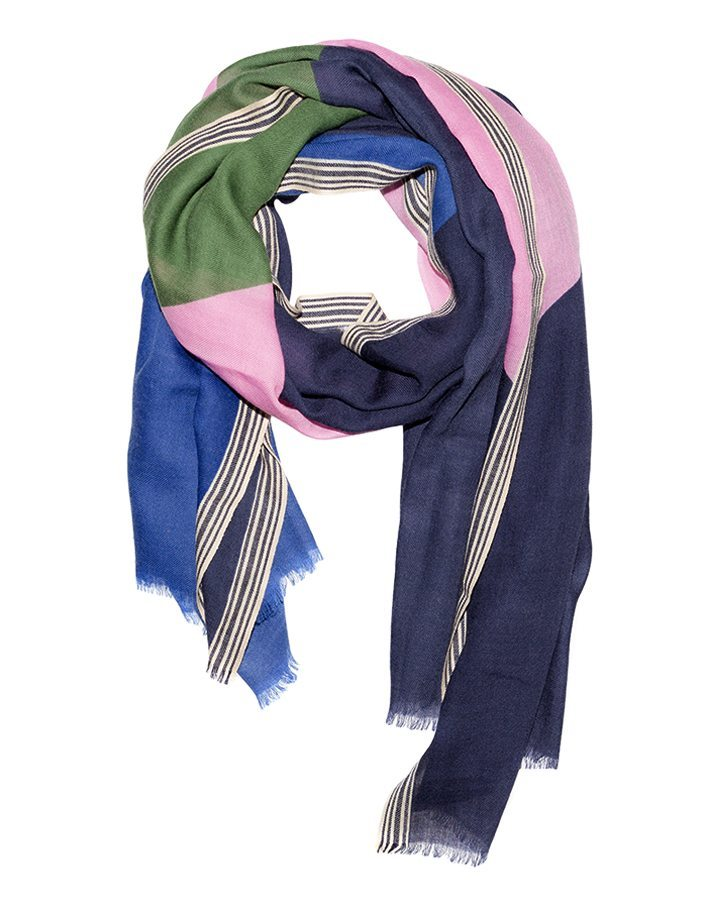 LOVAT&GREEN Trio Navy wool scarf
