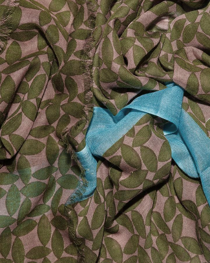 LOVAT&GREEN Petal Green foulard