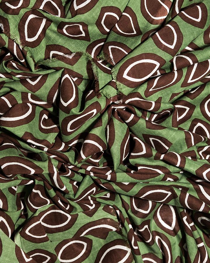 LOVAT&GREEN Cocoa Green foulard