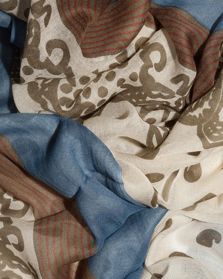 LOVAT&GREEN Naïf Khaki foulard