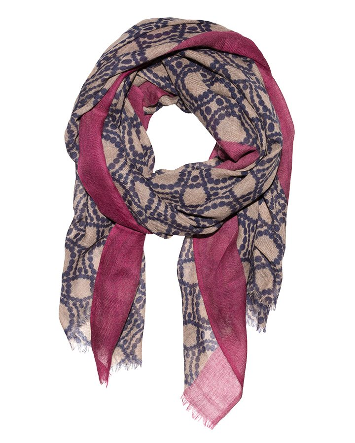 LOVAT&GREEN Ring Burgundy wool scarf