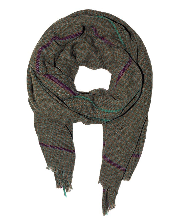 LOVAT&GREEN Pata Green wool scarf