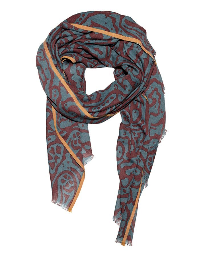 LOVAT&GREEN Sea Petrol wool scarf