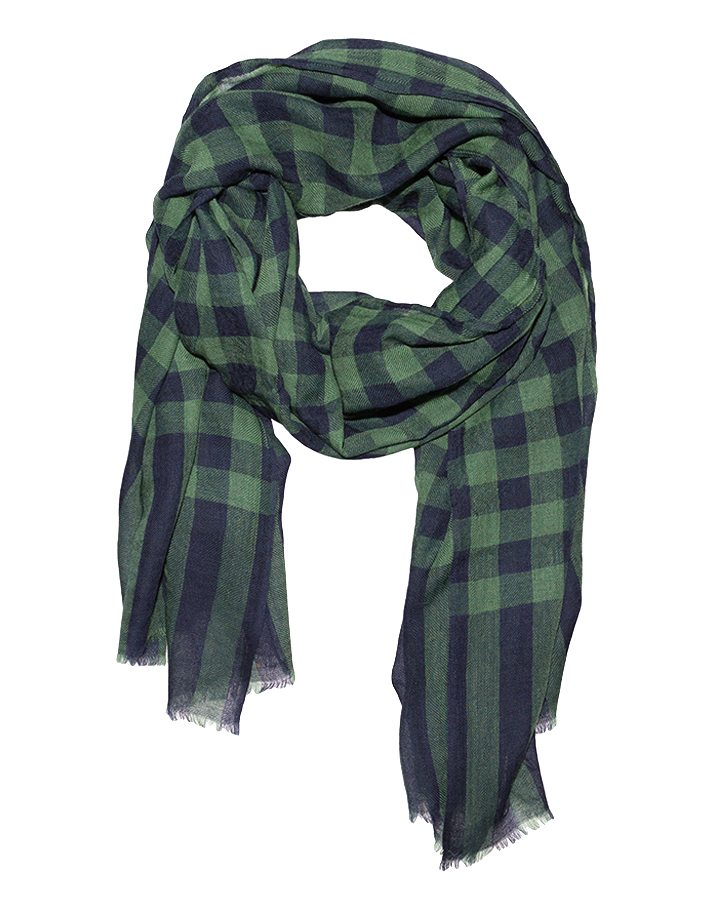 LOVAT&GREEN Vichy Mint Green wool scarf