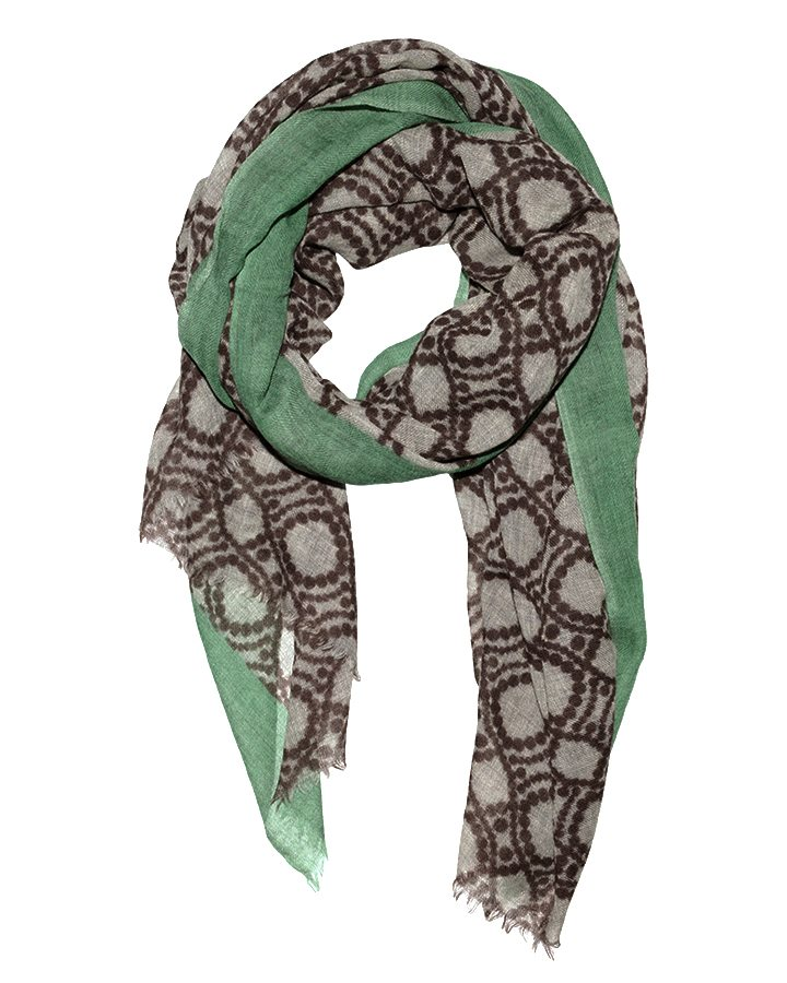 LOVAT&GREEN Ring Mint Green wool scarf