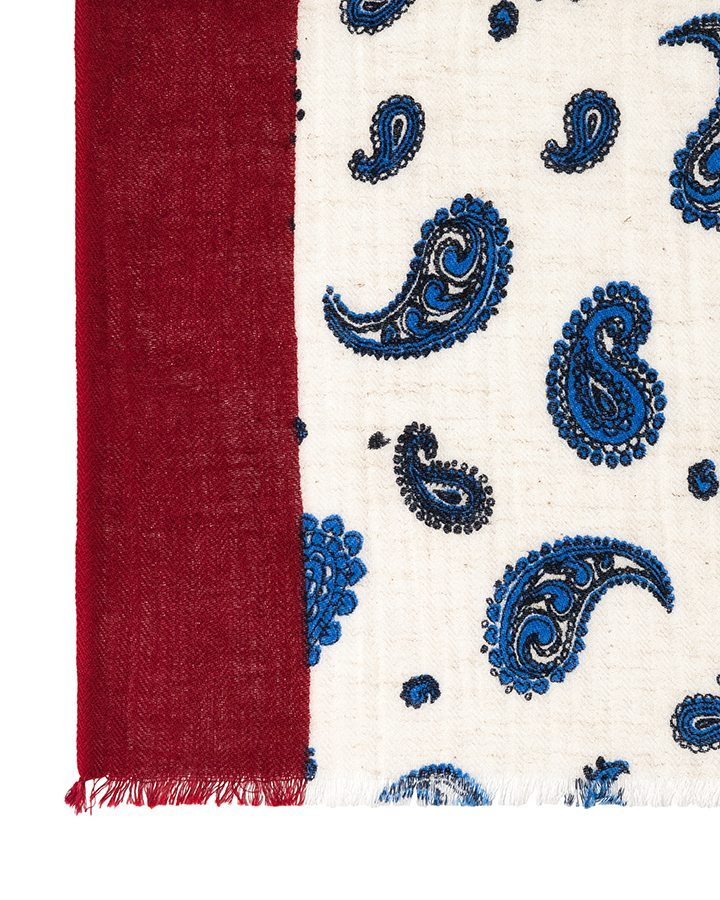 LOVAT&GREEN Butterfly Blue foulard