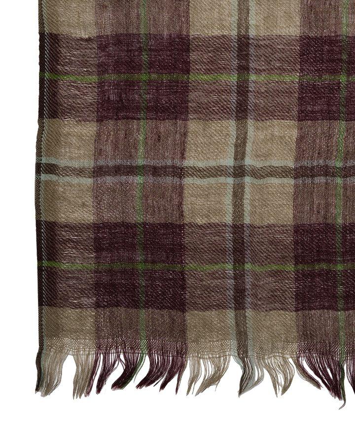LOVAT&GREEN Tartan Burgundy wool scarf