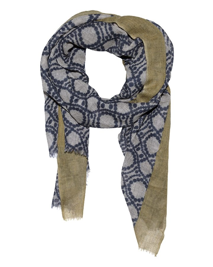 LOVAT&GREEN Ring Olive wool scarf