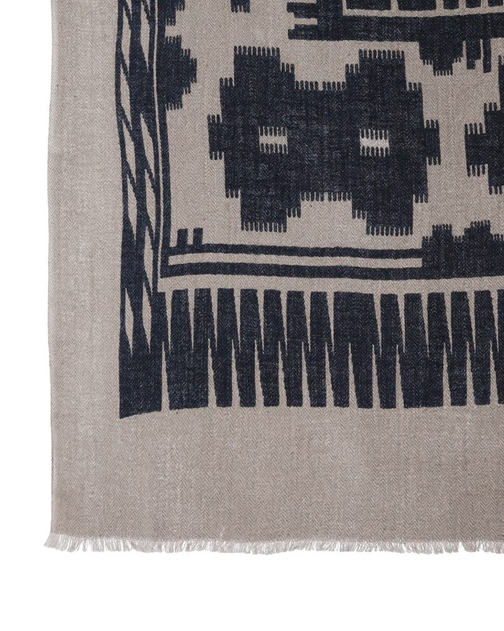 LOVAT&GREEN Navajo Navy foulard