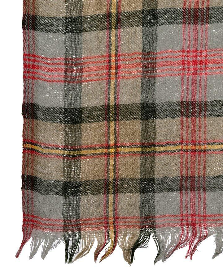 LOVAT&GREEN Tartan Red wool scarf