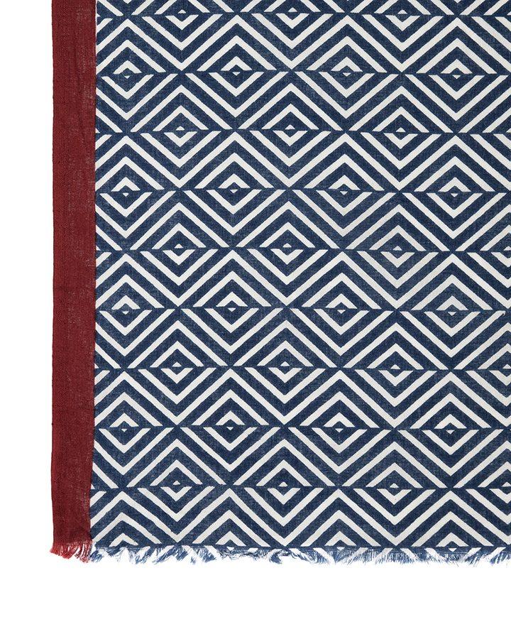 LOVAT&GREEN Morocco Navy foulard