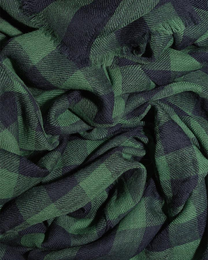 LOVAT&GREEN Vichy Mint Green wool scarf