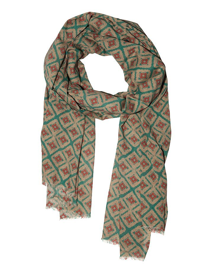 LOVAT&GREEN Ethnic Green foulard