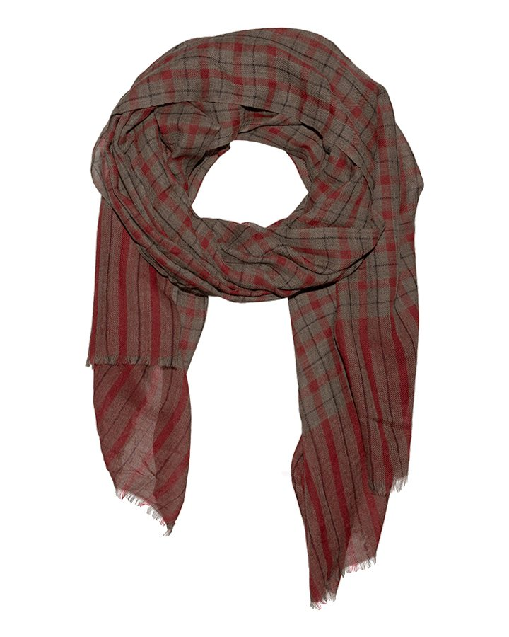 LOVAT&GREEN Scot Red wool scarf