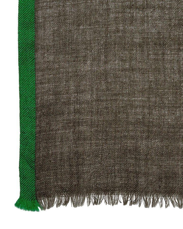 LOVAT&GREEN Khaki wool scarf