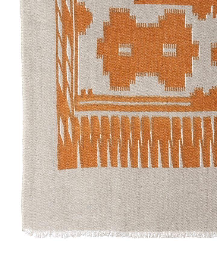 LOVAT&GREEN Navajo Orange foulard