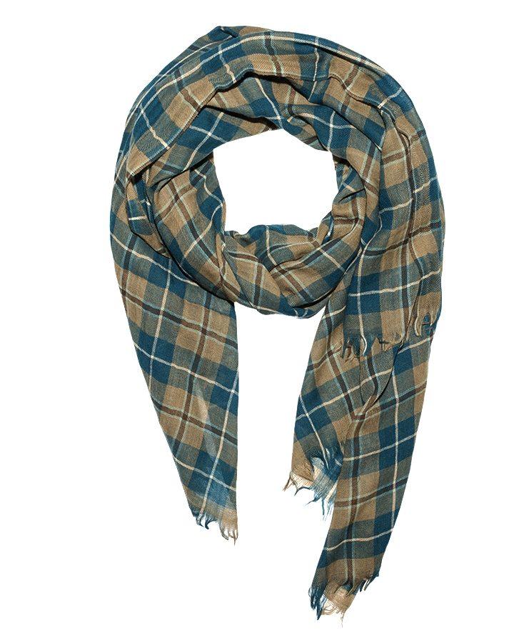 LOVAT&GREEN Tartan Petrol wool scarf