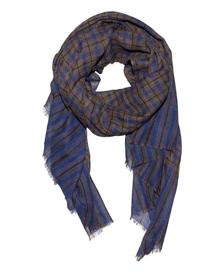 LOVAT&GREEN Scot Royal Blue wool scarf