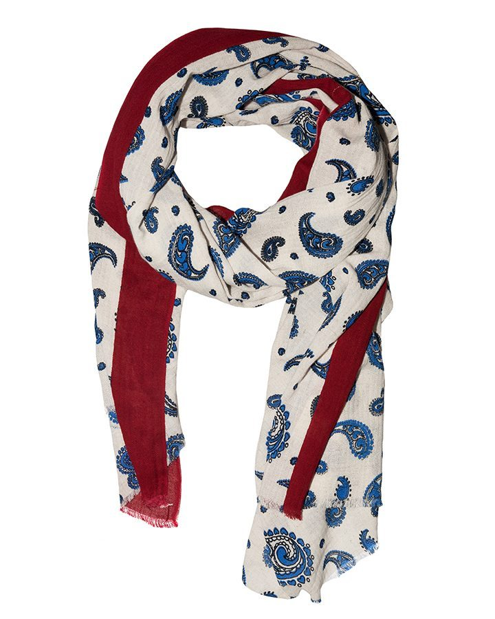 LOVAT&GREEN Butterfly Blue foulard