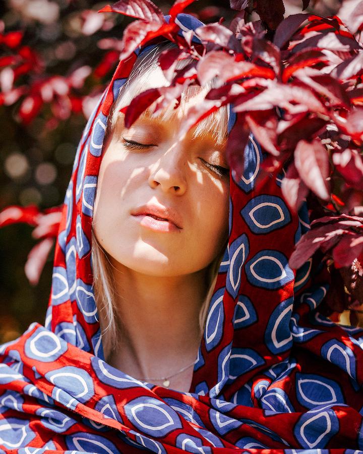 LOVAT&GREEN Cocoa Burgundy foulard