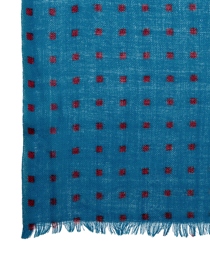 LOVAT&GREEN Mini Petrol wool scarf