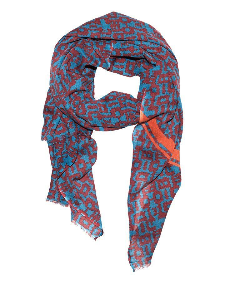 LOVAT&GREEN Marno Petrol wool scarf