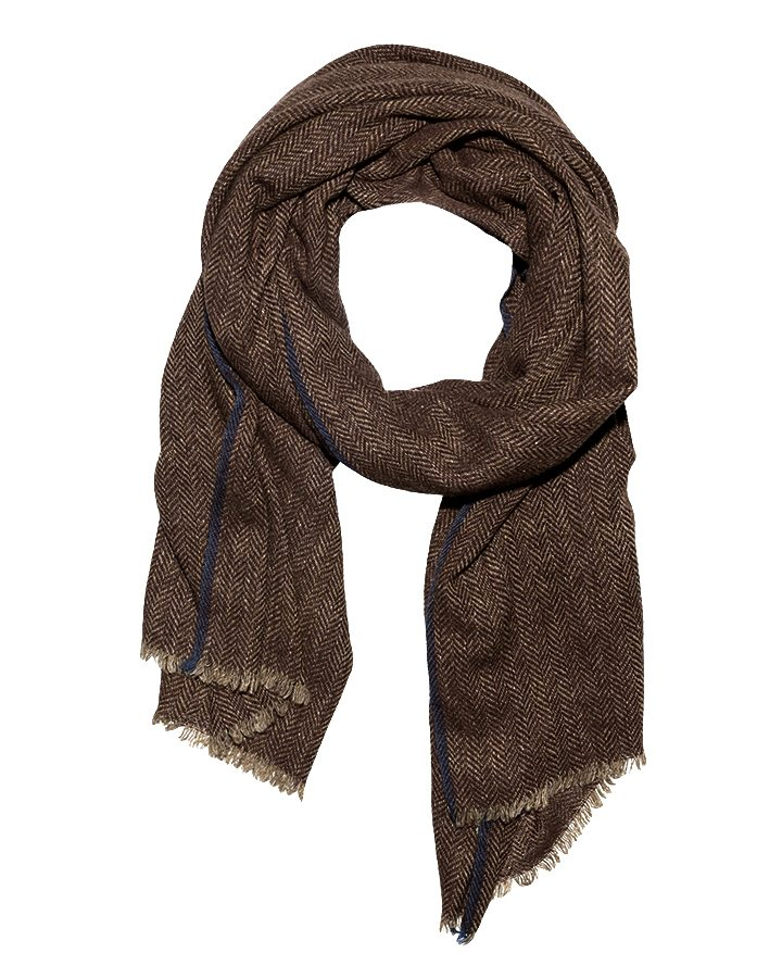 LOVAT&GREEN Herring Brown wool scarf