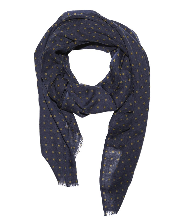 LOVAT&GREEN Mini Navy wool scarf