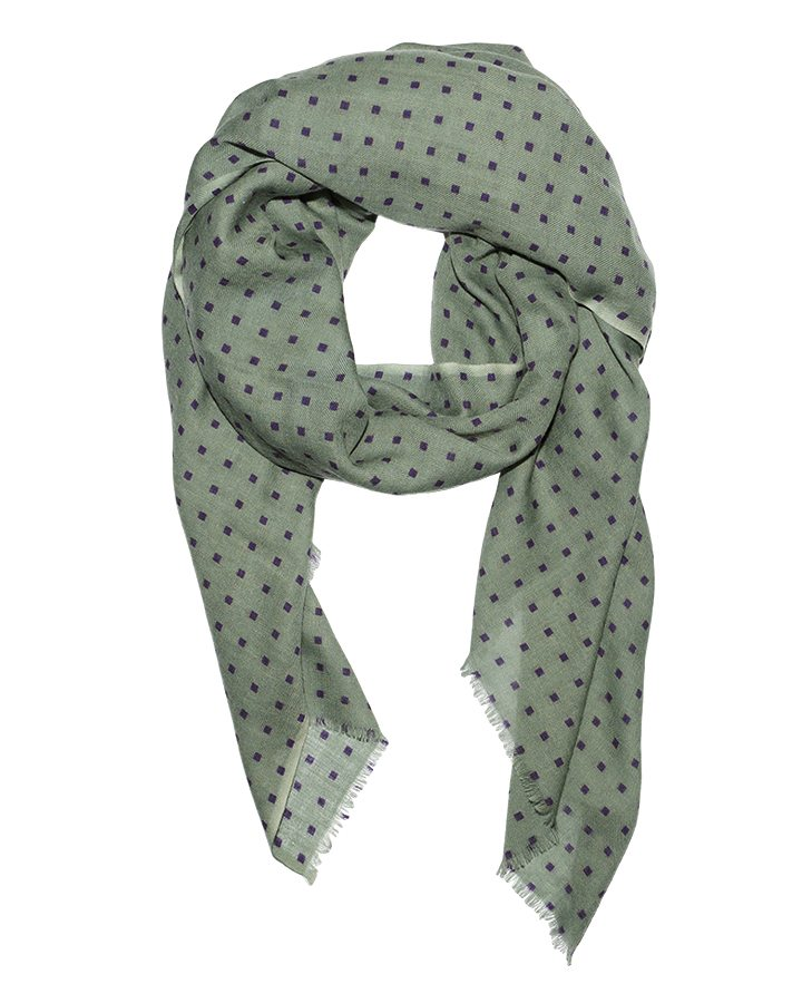 LOVAT&GREEN Mini Green wool scarf