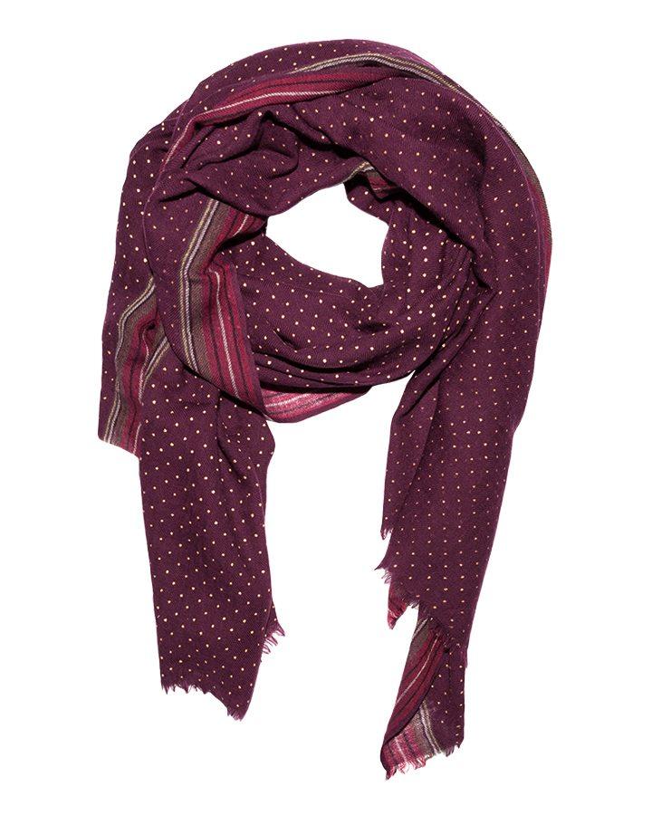 LOVAT&GREEN Dots Burgundy foulard
