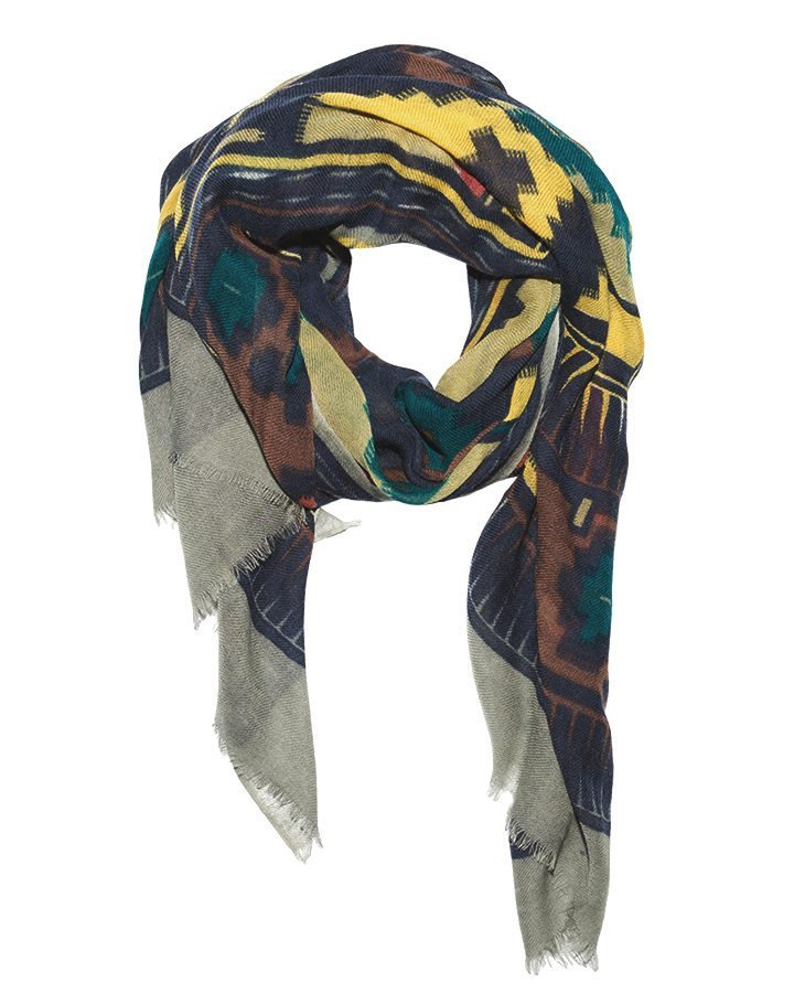LOVAT&GREEN Hippy Navy wool scarf