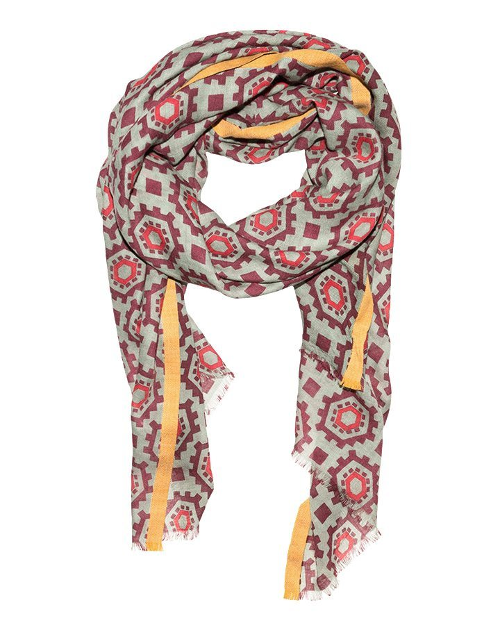 LOVAT&GREEN Clock Burgundy foulard