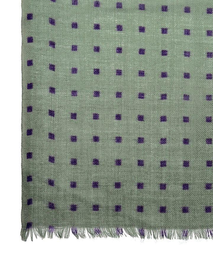 LOVAT&GREEN Mini Green wool scarf