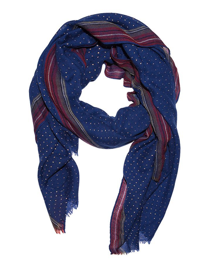 LOVAT&GREEN Dots Royal Blue foulard