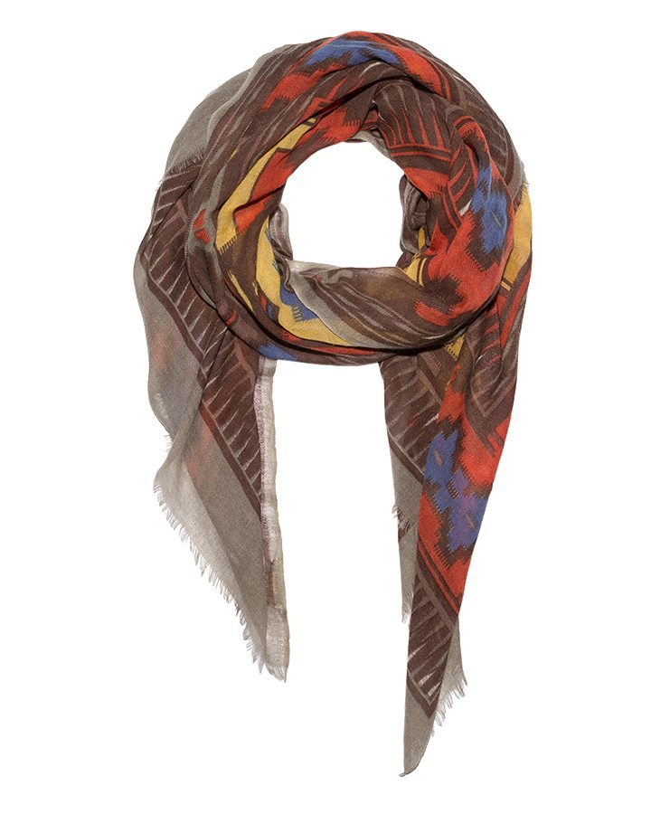 LOVAT&GREEN Hippy Brown wool scarf