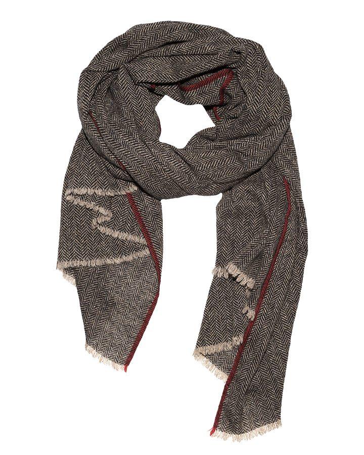 LOVAT&GREEN Herring Ecru wool scarf