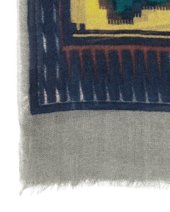 LOVAT&GREEN Hippy Navy wool scarf