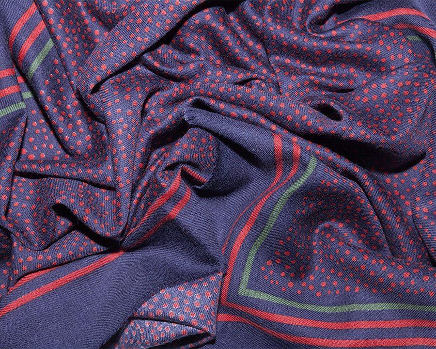LOVAT&GREEN Little Dots Red wool scarf
