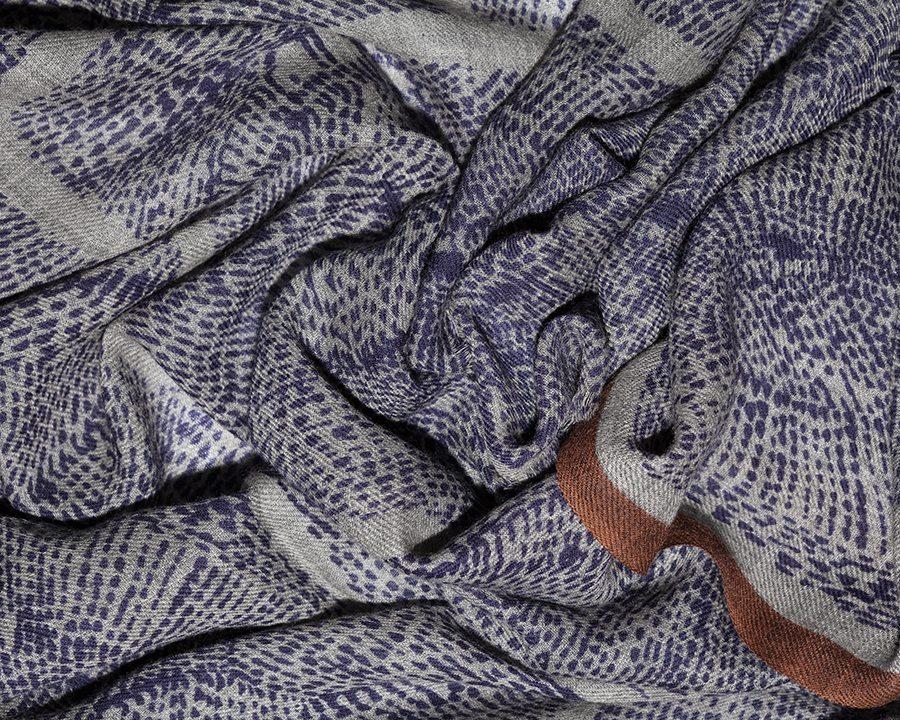 LOVAT&GREEN Naïf Blue wool scarf