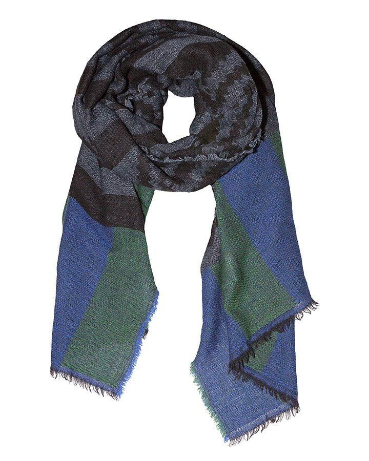 LOVAT&GREEN Navajo Royal Blue wool scarf