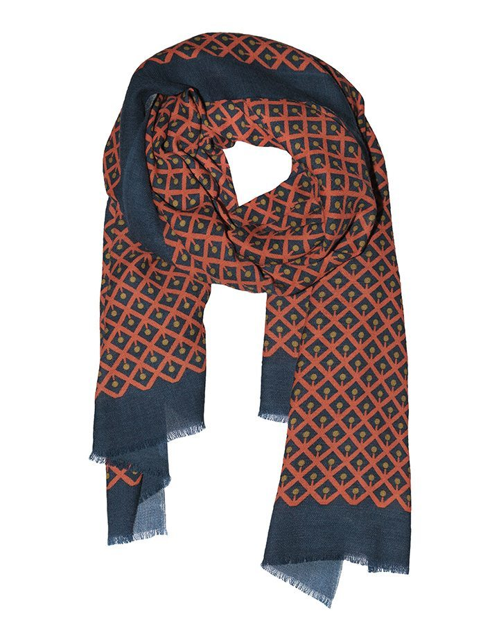 LOVAT&GREEN Cherry Orange wool scarf