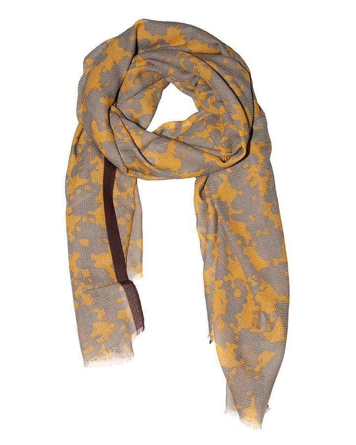 LOVAT&GREEN Stains Grey wool scarf