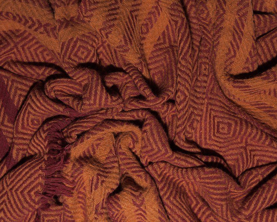 LOVAT&GREEN Mosaique Orange wool scarf