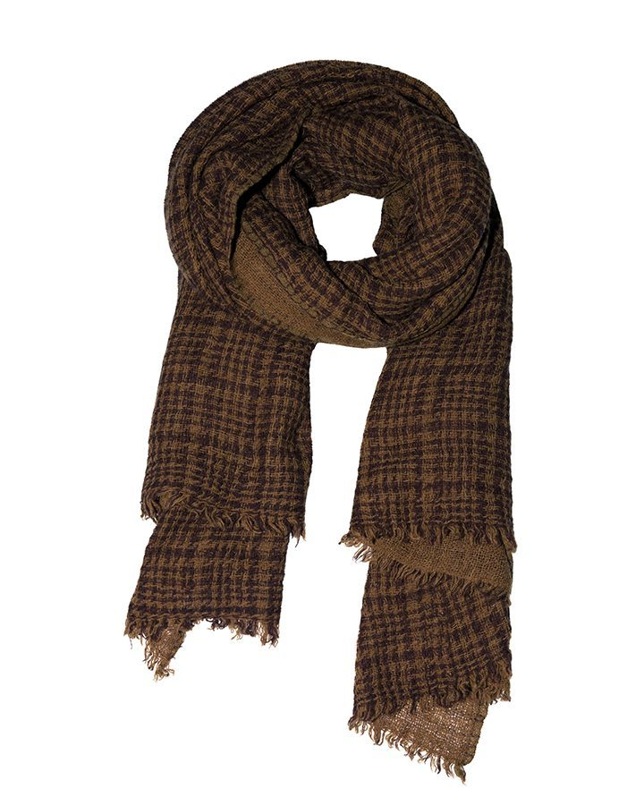 LOVAT&GREEN Gales Brown wool scarf
