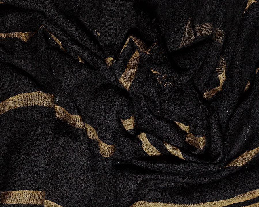 LOVAT&GREEN Vintage Black wool scarf