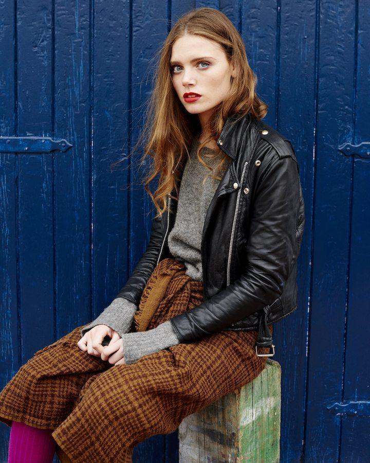 LOVAT&GREEN Gales Brown wool scarf