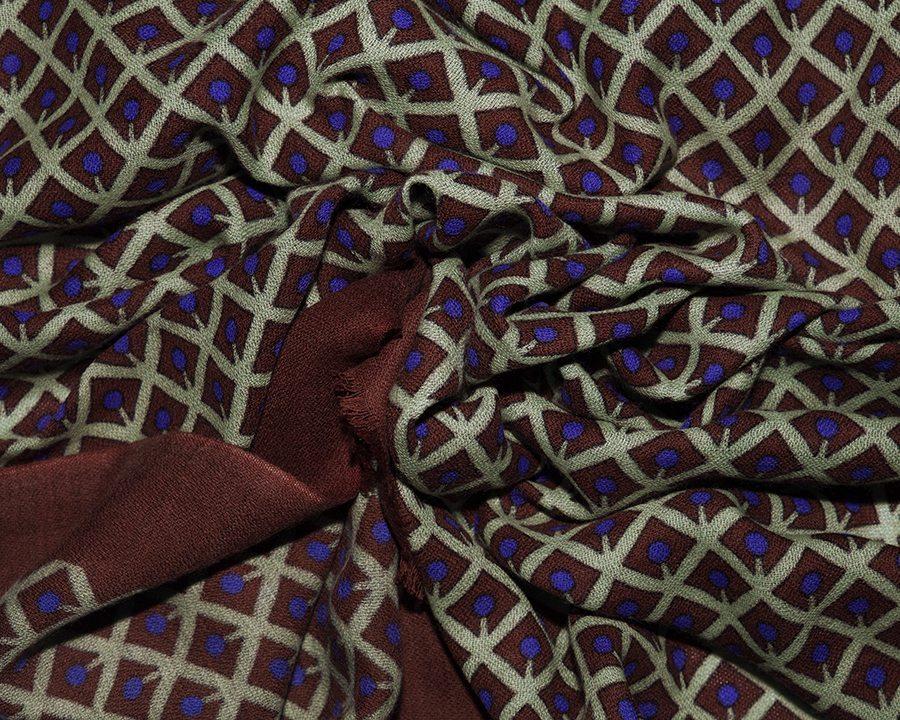 LOVAT&GREEN Cherry Brown wool scarf