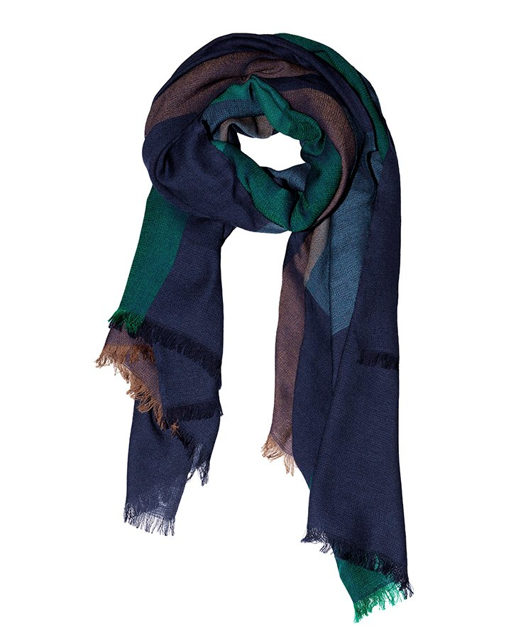 LOVAT&GREEN Square Blue wool scarf